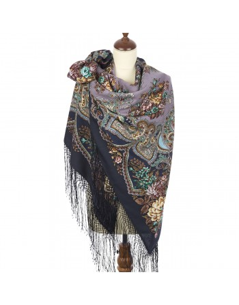 esarfa-sal-din-lana-148x148cm-rusesc-original-pavlovo-posad-cu-desen-unic-maya-multicolor-pe-fundal-mov