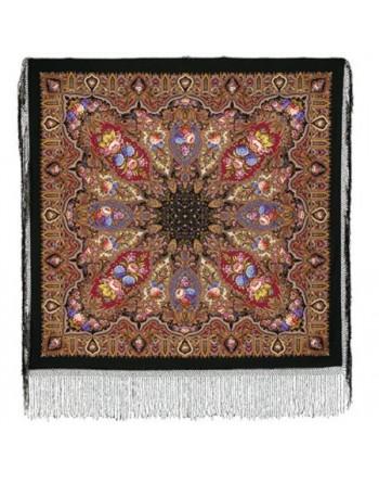 batic-din-lana-148x148cm-rusesc-original-pavlovo-posad-cu-desen-unic-mindal-multicolor-pe-fundal-negru