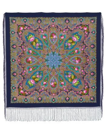 sal-din-lana-148x148cm-rusesc-original-pavlovo-posad-cu-desen-unic-mindal-multicolor-pe-fundal-albastru