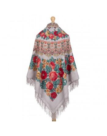 sal-esarfa-batic-din-lana-146x146cm-original-pavlovo-posad-rusia-model-molitva-multicolor-pe-fundal-gri