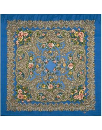 batic-esarfa-sal-din-lana-89x89cm-original-pavlovo-posad-rusia-model-ozyornyy-kray-multicolor-pe-fundal-albastru