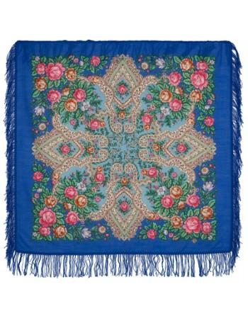 batic-esarfa-sal-din-lana-89x89cm-original-pavlovo-posad-rusia-model-nezhnyye-chuvstva-multicolor-pe-fundal-albastru