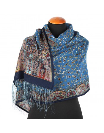 esarfa-sal-din-lana-150x60cm-originala-pavlovo-posad-rusia-model-medeya-multicolor-pe-fundal-albastru