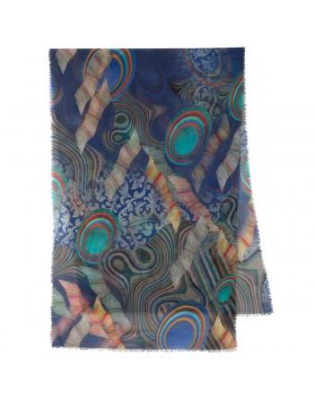 esarfa-sal-din-lana-230x80cm-originala-pavlovo-posad-rusia-model-multicolor-pe-fundal-albastru-