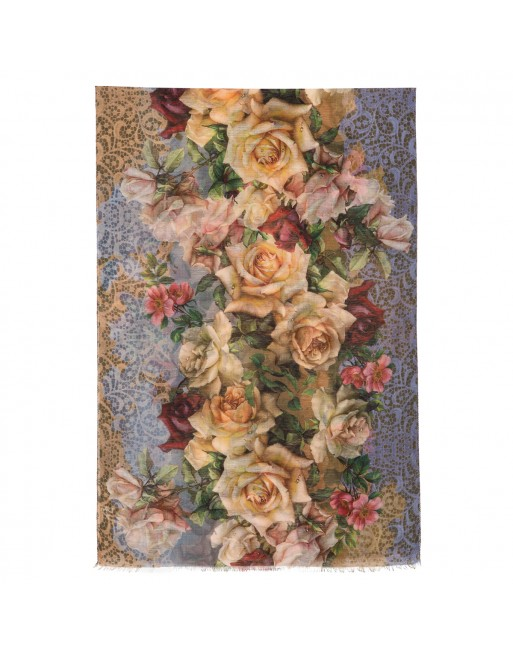 esarfa-sal-din-lana-230x80cm-originala-pavlovo-posad-rusia-model-floral-multicolor-pe-fundal-bej