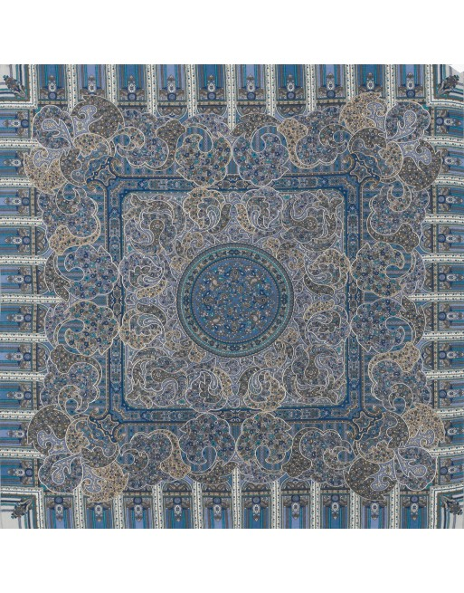 batic-esarfa-sal-din-lana-89x89cm-original-pavlovo-posad-rusia-model-den-rozhdenya-multicolor-pe-fundal-albastru