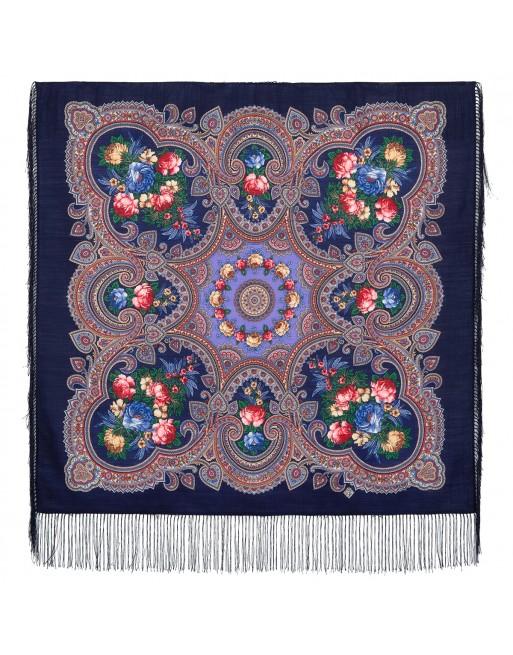 batic-esarfa-sal-din-lana-89x89cm-original-pavlovo-posad-rusia-model-svidanye-s-letom-multicolor-pe-fundal-albastru