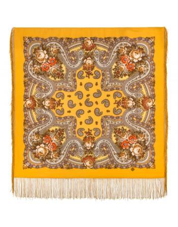 batic-esarfa-sal-din-lana-89x89cm-original-pavlovo-posad-rusia-model-na-krylyah-pamyati-multicolor-pe-fundal-galben