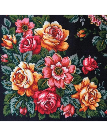 batic-esarfa-sal-din-lana-89x89cm-original-pavlovo-posad-rusia-model-floral-gorod-roz-multicolor-pe-fundal-negru