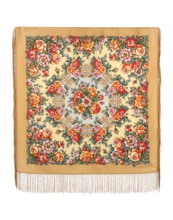 batic-esarfa-sal-din-lana-89x89cm-original-pavlovo-posad-rusia-model-floral-gorod-roz-multicolor-pe-fundal-bej