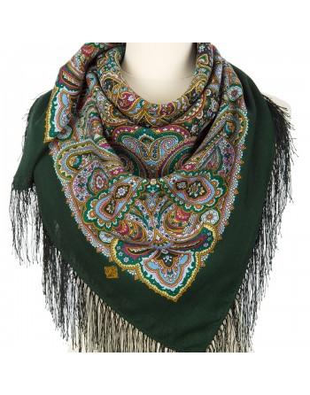 batic-esarfa-sal-din-lana-89x89cm-original-pavlovo-posad-rusia-model-gorozhanka-multicolor-pe-fundal-verde