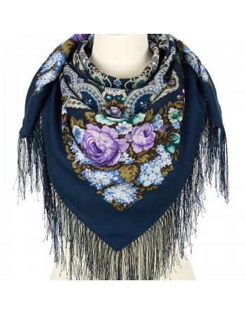 batic-esarfa-sal-lana-89x89cm-original-pavlovo-posad-rusia-model-floral-domashniy-ochag-multicolor-pe-fundal-albastru
