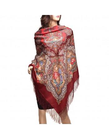 sal-esarfa-batic-lana-146x146cm-original-pavlovo-posad-rusia-floral-ispanskoye-vino-multicolor-pe-fundal-rosu-visiniu