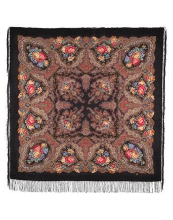 sal-esarfa-batic-lana-146x146cm-original-pavlovo-posad-rusia-model-floral-ispanskoye-vino-multicolor-pe-fundal-negru