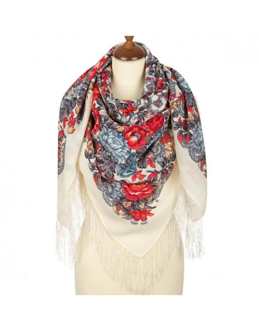 sal-esarfa-basma-batic-lana-125x125cm-original-pavlovo-posad-rusia-model-floral-utomlyonnoye-solntse-fundal-alb