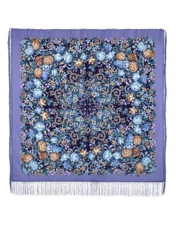 sal-esarfa-basma-batic-lana-125x125cm-original-pavlovo-posad-rusia-model-floral-utomlyonnoye-solntse-fundal-mov-lila-