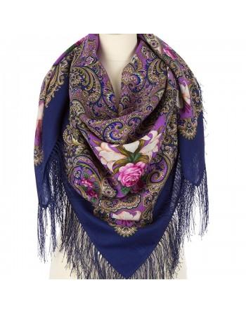 sal-esarfa-basma-batic-lana-125x125cm-original-pavlovo-posad-rusia-model-floral-scazki-letney-nochi-pe-fundal-albastru