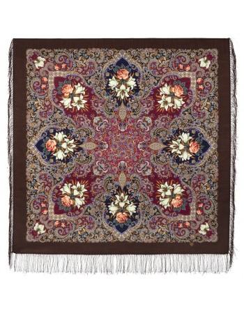 sal-esarfa-basma-batic-lana-125x125cm-original-pavlovo-posad-rusia-model-floral-scazki-letney-nochi-pe-fundal-maro