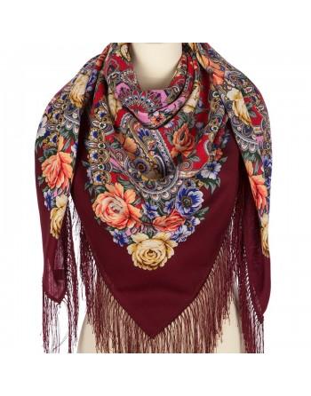 sal-esarfa-basma-batic-lana-125x125cm-original-pavlovo-posad-rusia-model-floral-devitsa-krasa-pe-fundal-rosu-visiniu-