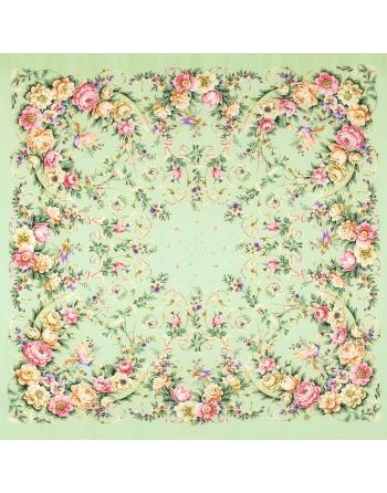 sal-esarfa-basma-batic-matase-naturala-130x130cm-original-pavlovo-posad-rusia-model-prazdnik-dushi-pe-verde