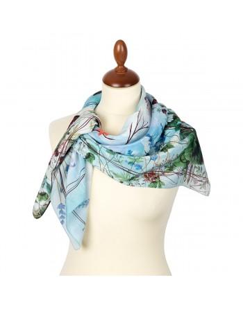 esarfa-batic-basma-matase-naturala-89x89cm-originala-pavlovo-posad-rusia-model-multicolor-pe-fundal-albastru