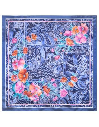 esarfa-batic-basma-matase-naturala-89x89cm-originala-pavlovo-posad-rusia-volshebnyy-mir-multicolor-pe-fundal-albastru