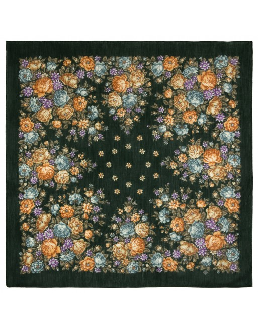 esarfa-batic-basma-lana-115x115cm-originala-pavlovo-posad-rusia-model-floral-tsvety-dlya-dushi-multicolor-pe-fundal-verde