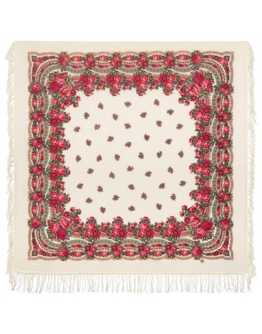 sal-esarfa-basma-batic-lana-125x125cm-original-pavlovo-posad-rusia-model-floral-rozovyy-sad-pe-fundal-alb