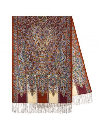 sal-esarfa-din-lana-200x70cm-original-pavlovo-posad-rusia-model-chetyre-vetra-multicolor-pe-fundal-rosu-visiniu