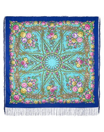 sal-esarfa-basma-batic-lana-135x135cm-original-pavlovo-posad-rusia-model-zvezdnyy-dojdi-multicolor-pe-fundal-albastru