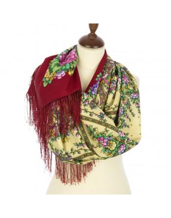 sal-esarfa-basma-batic-lana-135x135cm-original-pavlovo-posad-rusia-model-zvezdnyy-dojdi-multicolor-pe-fundal-rosu