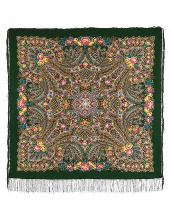 sal-esarfa-basma-batic-lana-135x135cm-original-pavlovo-posad-rusia-model-na-krylyah-nezhnosti-multicolor-pe-fundal-verde