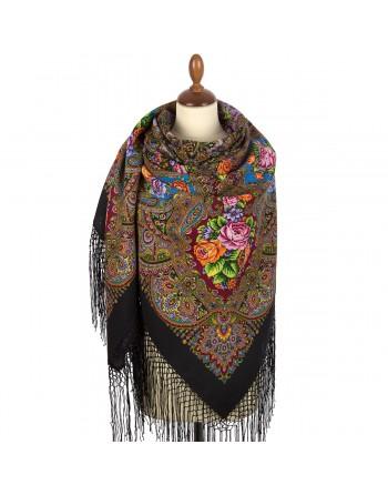 sal-esarfa-basma-batic-lana-148x148cm-rusesc-original-pavlovo-posad-model-svet-moy-zerkaltse-multicolor-pe-fundal-negru