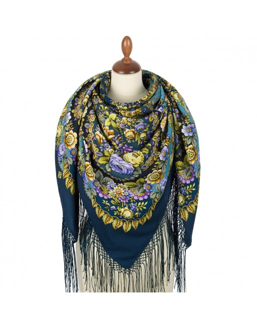 sal-esarfa-basma-batic-lana-148x148cm-rusesc-original-pavlovo-posad-model-dusha-rozy-multicolor-pe-fundal-albastru