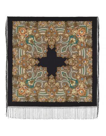 sal-esarfa-basma-batic-lana-148x148cm-rusesc-original-pavlovo-posad-model-boyarynea-multicolor-pe-fundal-negru