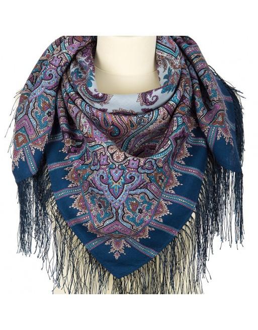 batic-esarfa-basma-sal-lana-89x89cm-original-pavlovo-posad-rusia-model-shafran-multicolor-pe-fundal-albastru