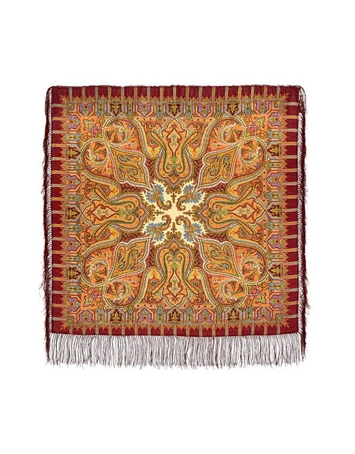 batic-esarfa-basma-sal-lana-89x89cm-original-pavlovo-posad-rusia-model-shafran-multicolor-pe-fundal-rosu