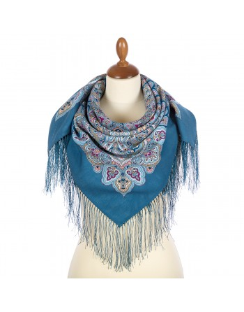 batic-esarfa-basma-sal-lana-89x89cm-original-pavlovo-posad-rusia-model-solovushka-multicolor-pe-fundal-albastru