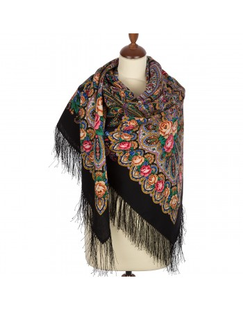sal-esarfa-basma-batic-lana-135x135cm-original-pavlovo-posad-rusia-model-na-krylyah-nezhnosti-multicolor-pe-fundal-negru