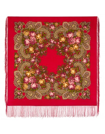 779-3-batic-esarfa-sal-din-lana-89x89cm-original-pavlovo-posad-rusia-model-neznakomka-multicolor-pe-fundal-rosu-