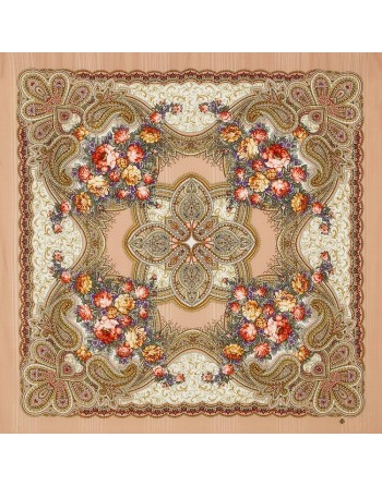 sal-esarfa-basma-batic-lana-146x146cm-original-pavlovo-posad-rusia-model-floral-lyubvi-jelannaya-pora-pe-fundal-bej