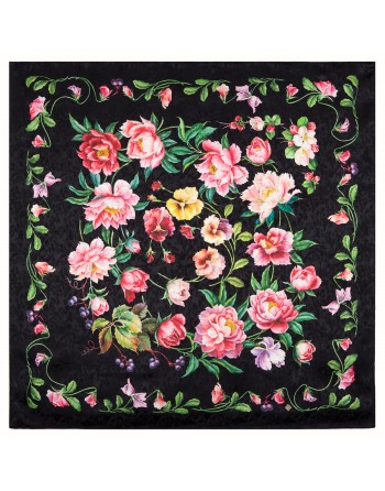 10027-18-esarfa-din-matase-naturala-89x89cm-originala-pavlovo-posad-rusia-model-floral-anyutiny-glazki-pe-fundal-negru