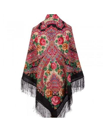 1723-18-sal-din-lana-146x146cm-original-pavlovo-posad-rusia-model-floral-volshebnaya-sila-lyubvi-multicolor-pe-fundal-negru