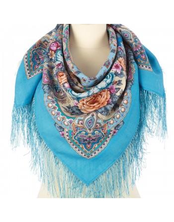 1841-13-batic-din-lana-89x89cm-original-pavlovo-posad-rusia-model-floral-avrora-multicolor-pe-fundal-albastru