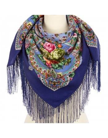 1841-14-batic-din-lana-89x89cm-original-pavlovo-posad-rusia-model-floral-avrora-multicolor-pe-fundal-albastru