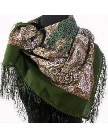 855-10-batic-din-lana-89x89cm-original-pavlovo-posad-rusia-model-floral-sady-shiraza-pe-fundal-verde