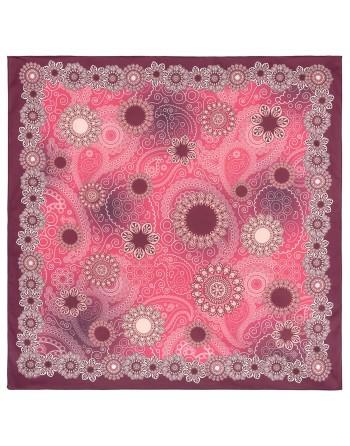10824-6-batic-din-bumbac-80x80cm-original-pavlovo-posad-rusia-model-floral-multicolor-pe-fundal-rosu-visiniu