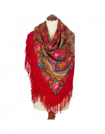 sal-esarfa-batic-din-lana-146x146cm-original-pavlovo-posad-rusia-model-lyubava-multicolor-pe-fundal-rosu