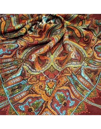 batic-esarfa-basma-sal-lana-89x89cm-original-pavlovo-posad-rusia-model-shafran-multicolor-pe-fundal-rosu-grena