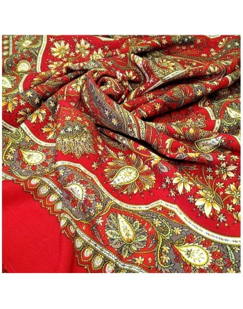 sal-esarfa-basma-batic-din-lana-146x146cm-original-pavlovo-posad-rusia-model-floral-imbiri-pe-fundal-rosu
